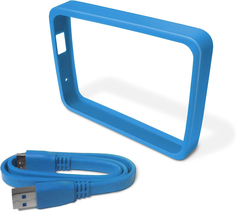 WD Grip Pack - Funda de disco duro para My Passport Ultra (incluye cable USB 3.0), cielo: Amazon.es: Informática