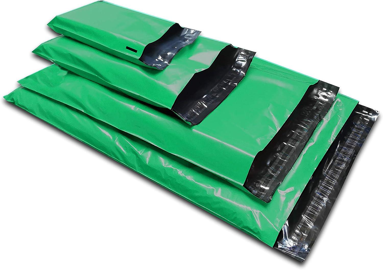 50 unidades de bolsas de plástico para envíos por correo de colores variados, color verde