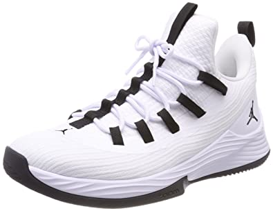 buy popular d07b3 dd9a8 Nike Jordan Ultra Fly 2 Low, Chaussures de Basketball homme - Ivoire  (Whiteblackwhite 100