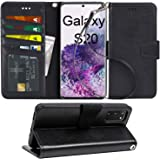 Arae Case for Samsung Galaxy S20 PU Leather Wallet Case Cover [Stand Feature] with Wrist Strap and [4-Slots] ID&Credit…