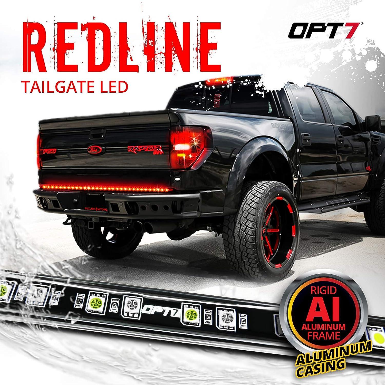 OPT7 60 LED Tailgate Light Bar Strip Reverse Light Towing Vehicle Trailer Double Row Flexible with Red//White Lights for Break Light Redline Choice Turn Signals Light for Truck