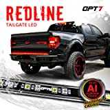 "OPT7 60"" Redline LED Tailgate Light Bar - TriCore LED - Weatherproof Rigid Aluminum No-Drill Install - Full Featured…"