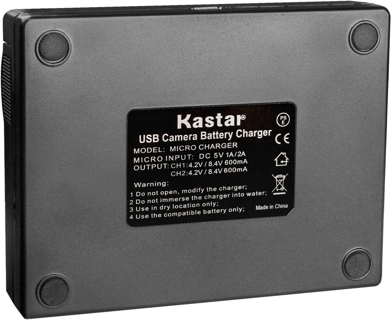 Kastar Charger Replace for Canon BP-970G BP-975 BP-945 BP950 BP-950G BP-955 UC-X2 UC-X2Hi UC-X30 UC-X30Hi UC-X40 UC-X40Hi UC-X45 UC-X50 UC-X55 V40 V40Hi XF100 XF105 XF200 XF205 XF300 XF305 XH-A1 XH-A1