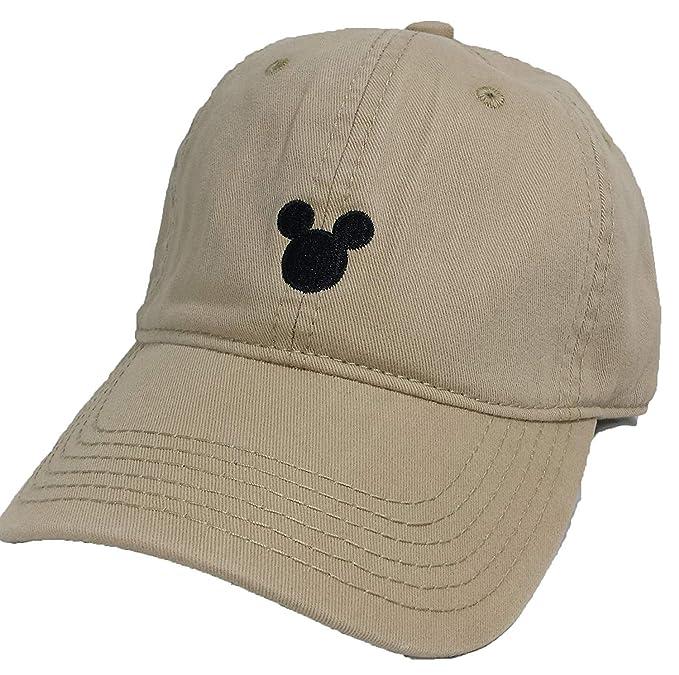 Image Unavailable. Image not available for. Color  Disney Men s Mickey  Mouse Khaki Adjustable Baseball Cap 4e95f57e9e5