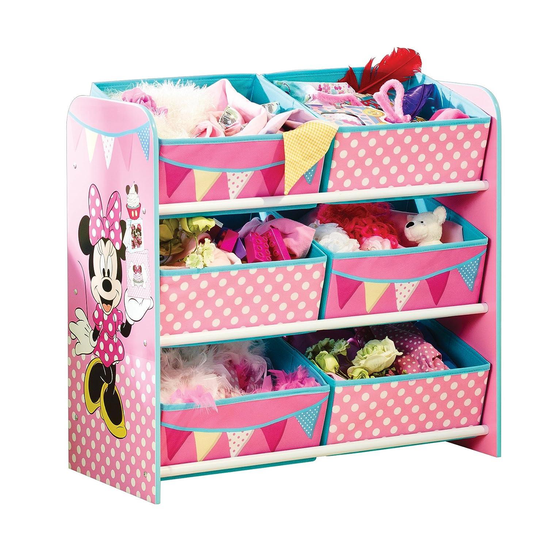 Minnie Mouse - Regal zur Spielzeugaufbewahrung mit sechs Kisten für Kinder Worlds Apart 471INN