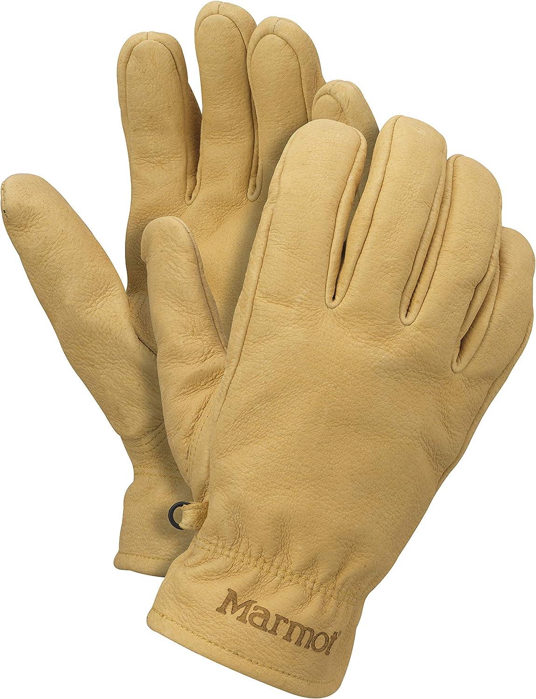 Marmot Basic Work Glove Guantes Trabajo de Cuero, Resistentes, para Exteriores, Pescar, conducción, Hombre