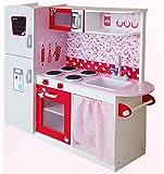 Leomark Grande Cucina Rosa In Legno Giocattolo Per Bamibni Gioco G'imitiazione Educazione Tavola Divertimento Accessori Da Cucina Microonda Bruciatori Frigo CUORI