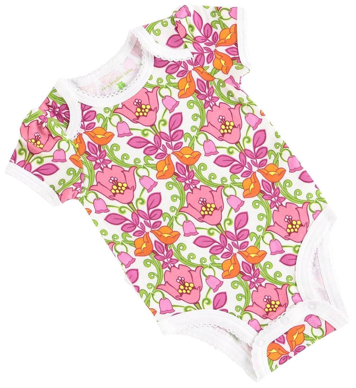 669864b13 Amazon.com: Vera Bradley Baby Girls Short Sleeve Ruffle Bodysuit, Lilli  Bell (6-9 Months): Clothing