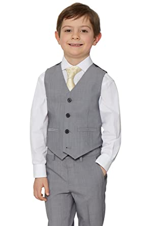 Choice of 5 Colours Boys Suits Waistcoat Suit Baby Pageboy Wedding Formal Smart