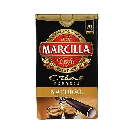 Marcilla Crème Express Café Molido Natural - 250 g: Amazon.es ...