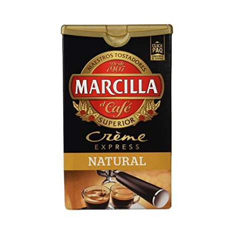 Marcilla Crème Express Café Molido Natural - 250 g: Amazon.es ...
