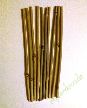 10 Bambusstabe 5 10 Mm Durchmesser Ca 30 Cm Lange Amazon De
