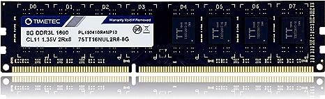 Timetec Hynix Ic 8gb Ddr3l 1600mhz Pc3 12800 Unbuffered Computers Accessories
