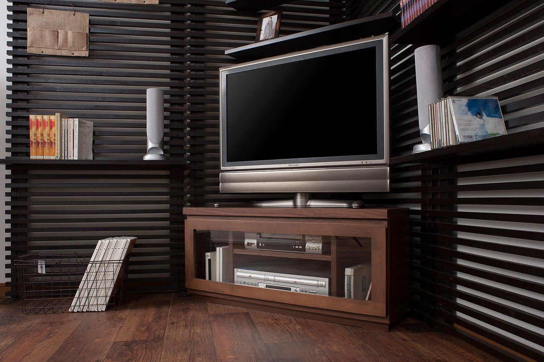 天然木アルダー材を使用した北欧シリーズ (幅90cmコーナーテレビボード, ダークブラウン) B01N1UJWVS 幅90cmコーナーテレビボード|ダークブラウン ダークブラウン 幅90cmコーナーテレビボード