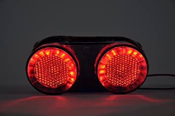 2000-2001 R1 Topzone Moto Smoked Lens Motorcycle Led Taillights Brake Tail Light with Integrated Turn Signal Lamp Indicators For Yamaha 2000-2005 FZ1