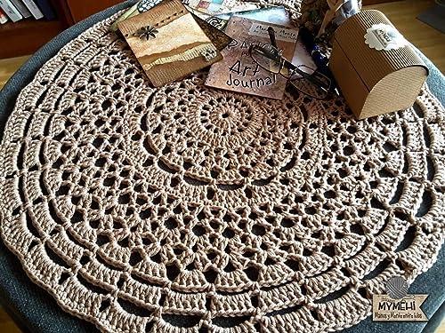 Tapete tejido a mano en algodón orgánico, pieza única modelo
