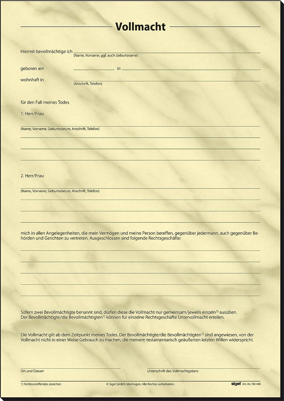 Sigel TM440 - Plantilla para testamento particular (tamaño A4, texto ...