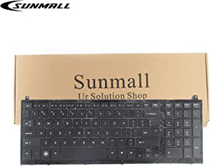 SUNMALL Keyboard Replacement with Frame Compatible with hp probook 4520s 4525s Series Laptop Black US Layout