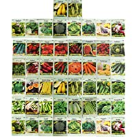 Deals on 50 Packs Assorted Heirloom Vegetable Seeds 20+ Varieties All