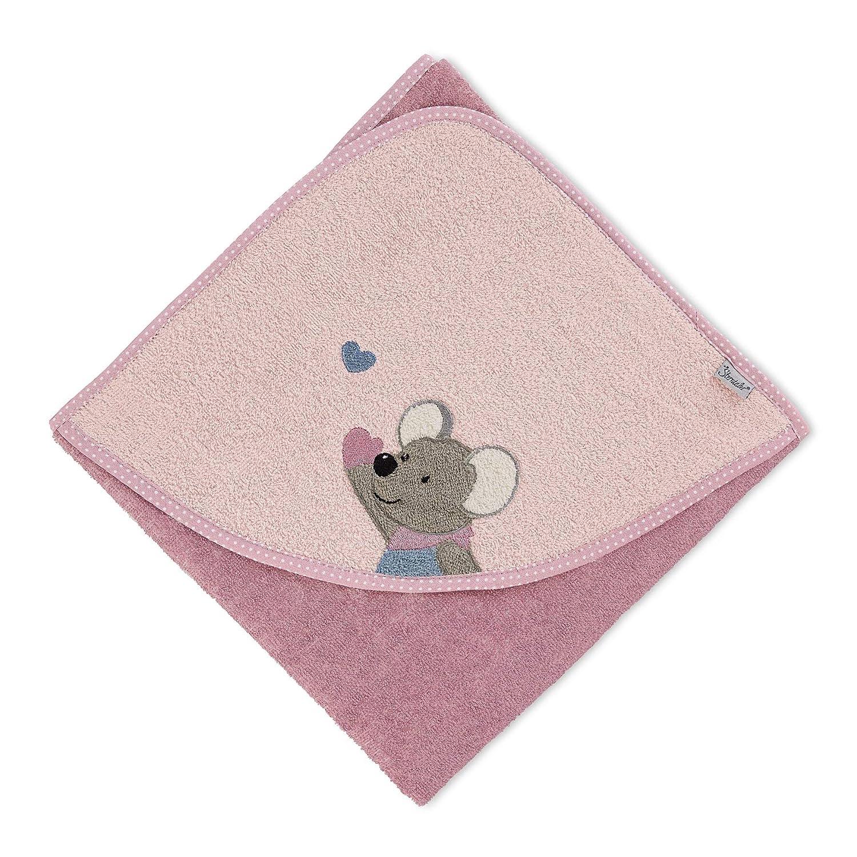 Sterntaler Kapuzenbadetuch Maus Mabel Rosa Alter: ab 0 Monate 80 x 80 cm