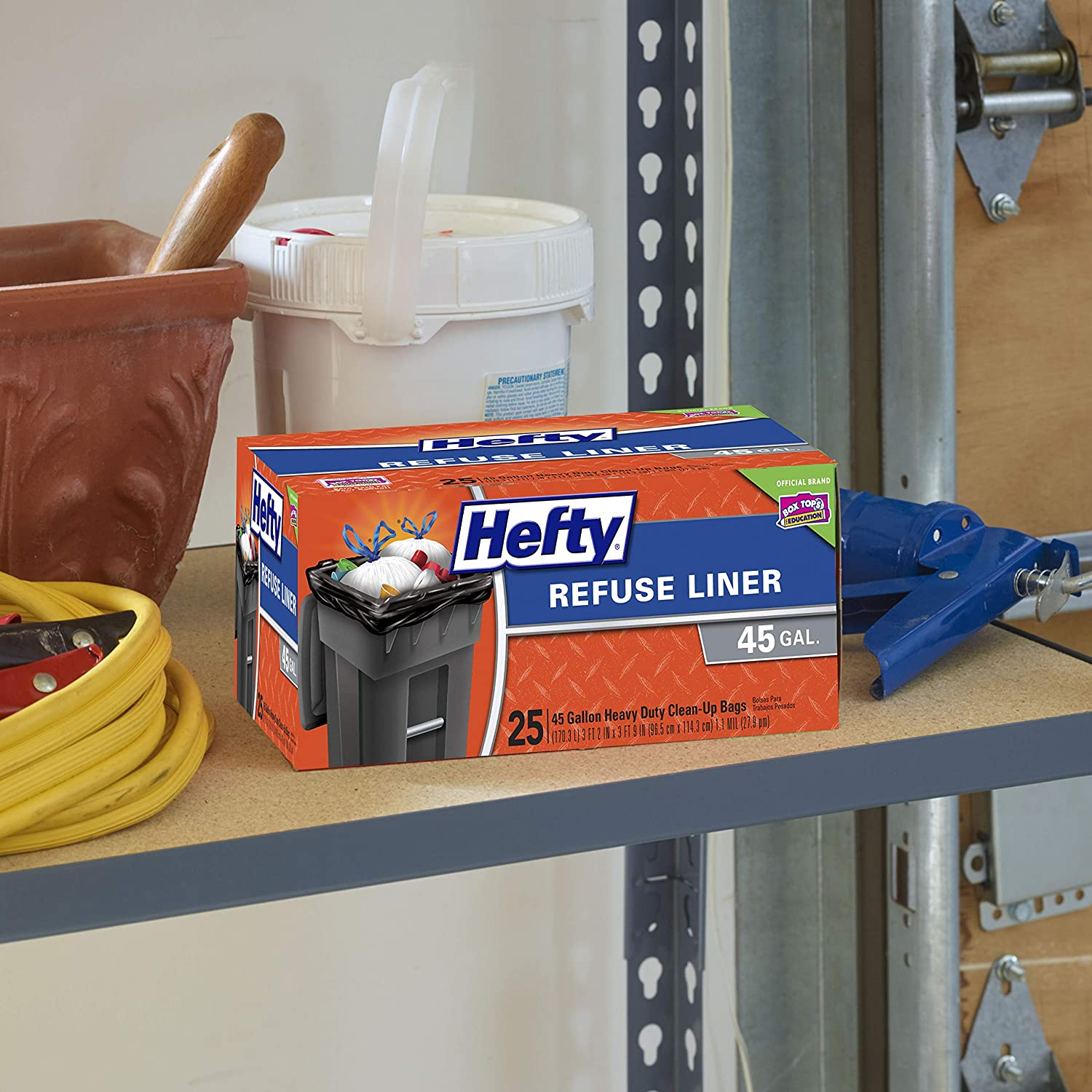 Hefty Extra Large Trash Bags 25 Count 45 Gallon