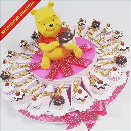 Tarta BOMBONIERA Cupcake llavero Winnie the Pooh envío ...