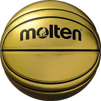 Molten BGSL - Balón de Baloncesto Premium de exhibición, Dorado, Talla 7