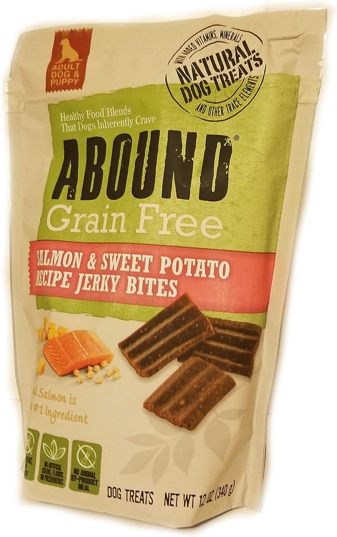Abound Dog Treats Salmon & Sweet Potato Recipe Jerky Bites, 12 oz