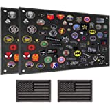 IronSeals Tactical Board Patch Organizer Holder Display with Loop Surface, Steel Ring and Flag Patch (2 Pack - S: 60 x…