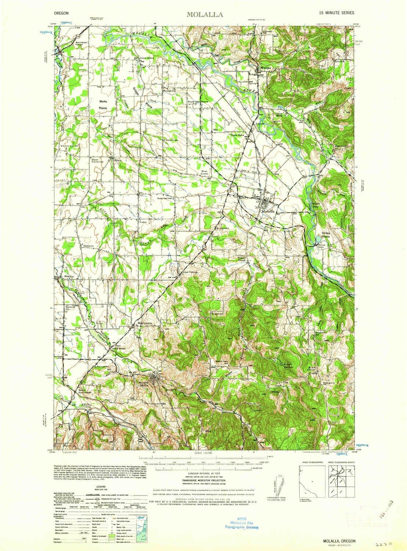 Amazon Com Yellowmaps Molalla Or Topo Map 1 62500 Scale 15 X 15