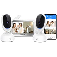 """Motorola Connect40-2 by Hubble Connected Video Baby Monitor –5"""" Parent Unit and HD Wi-Fi Viewing with Two Cameras - 2…"""