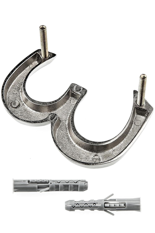 elegante Design 3D Numero civico in alluminio anodizzato HUBER 10 cm