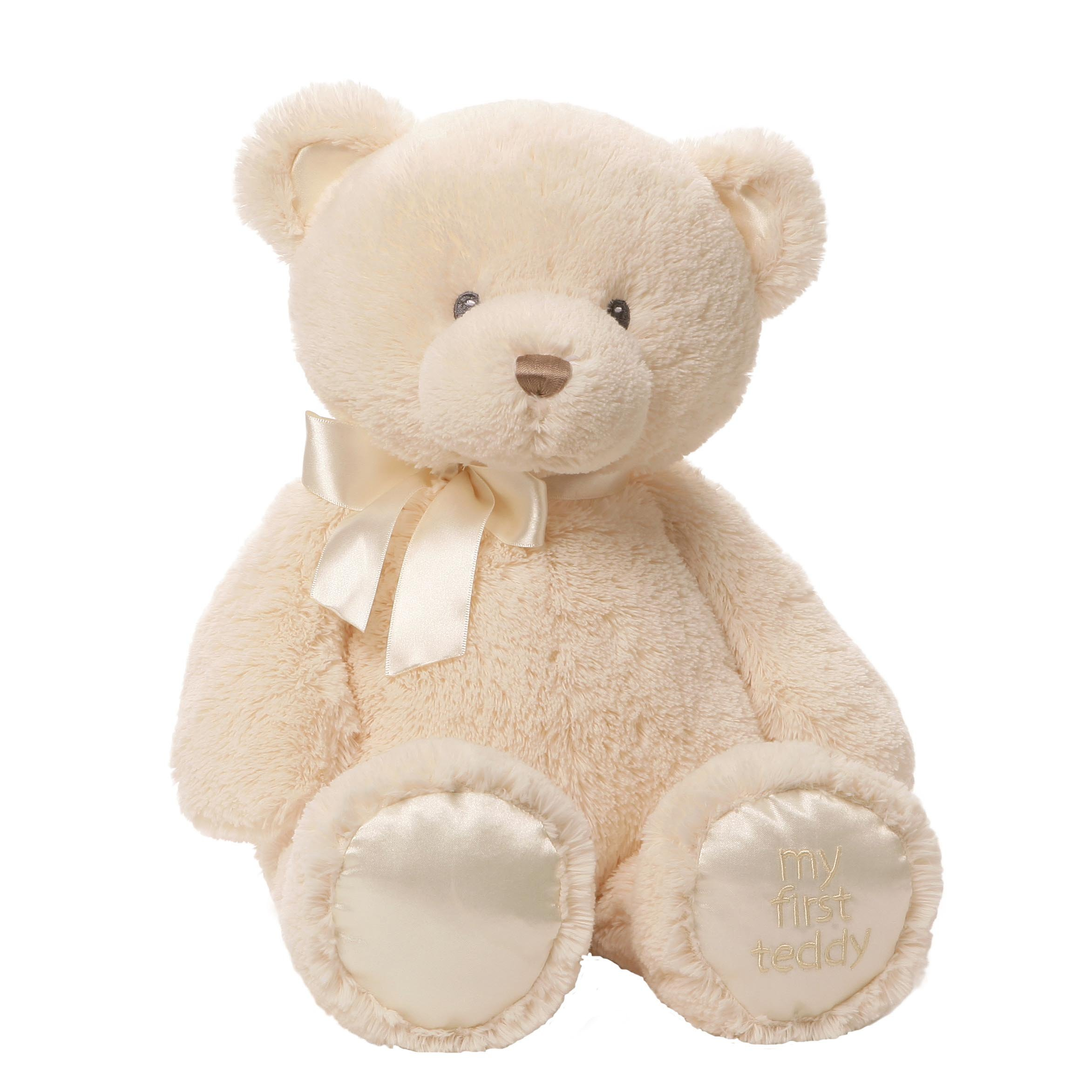 Gund Baby My 1st Teddy Plush, Cream, 18''