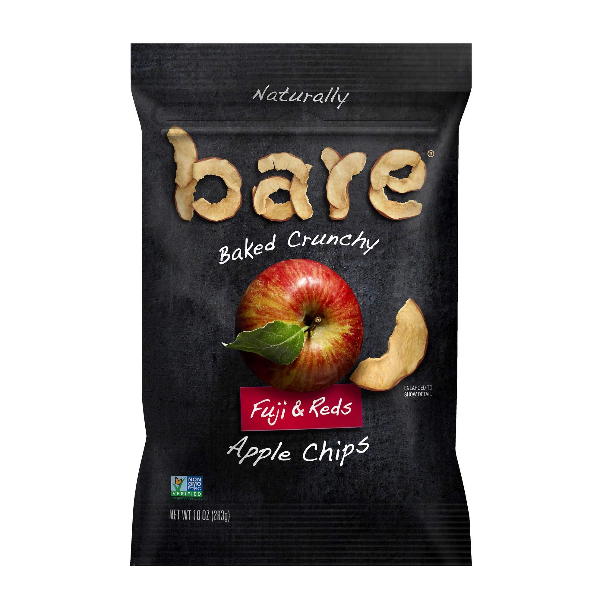 Bare Natural Apple Chips, Fuji & Reds, Gluten Free, Baked Crunchy Jumbo Bag 10 Ounces (283 g)