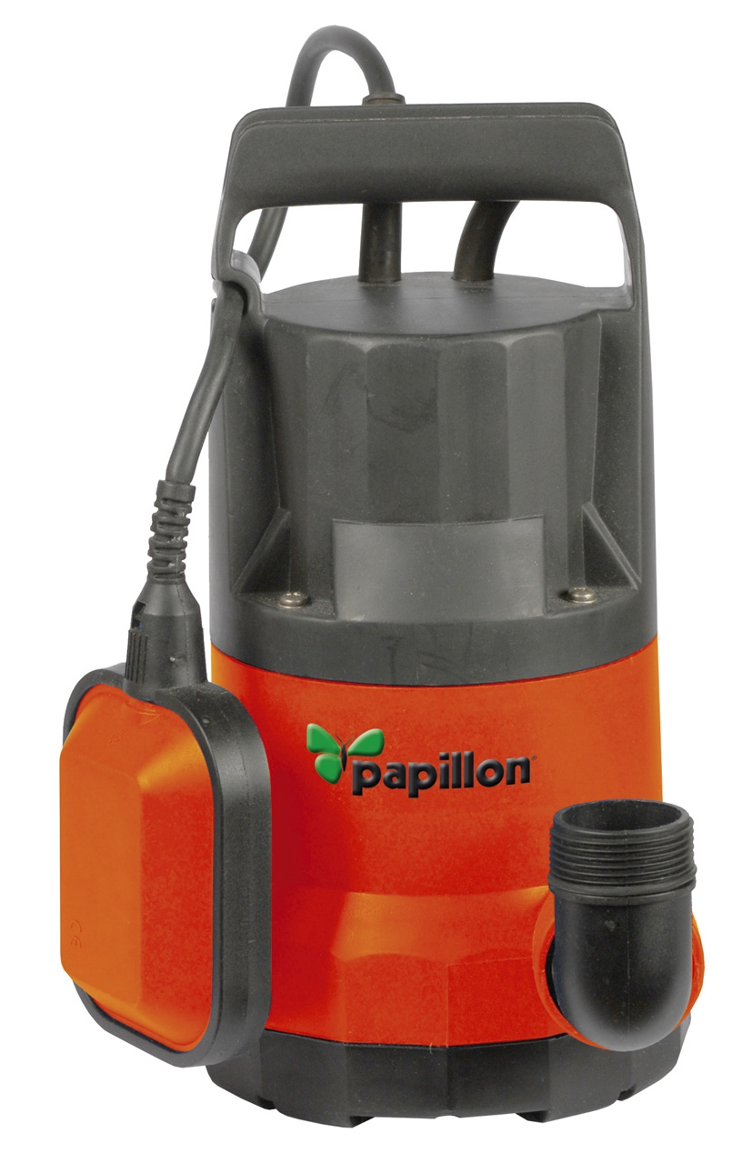 Pompe e'lectrique pour e'vacuer l'eau sale ou claire polyvalente d'auto-amorç age Papillon 91851