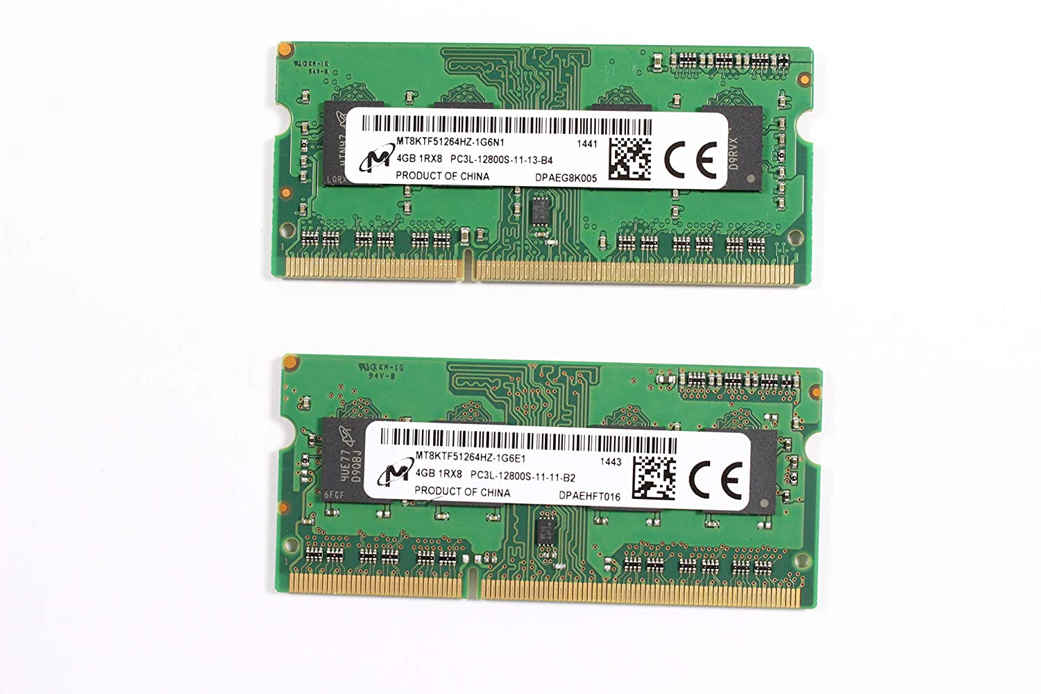 Micron 4GB SODIMM Laptop Memory MT8KTF51264HZ PC3L-12800s-11-13-B4 Low Voltage