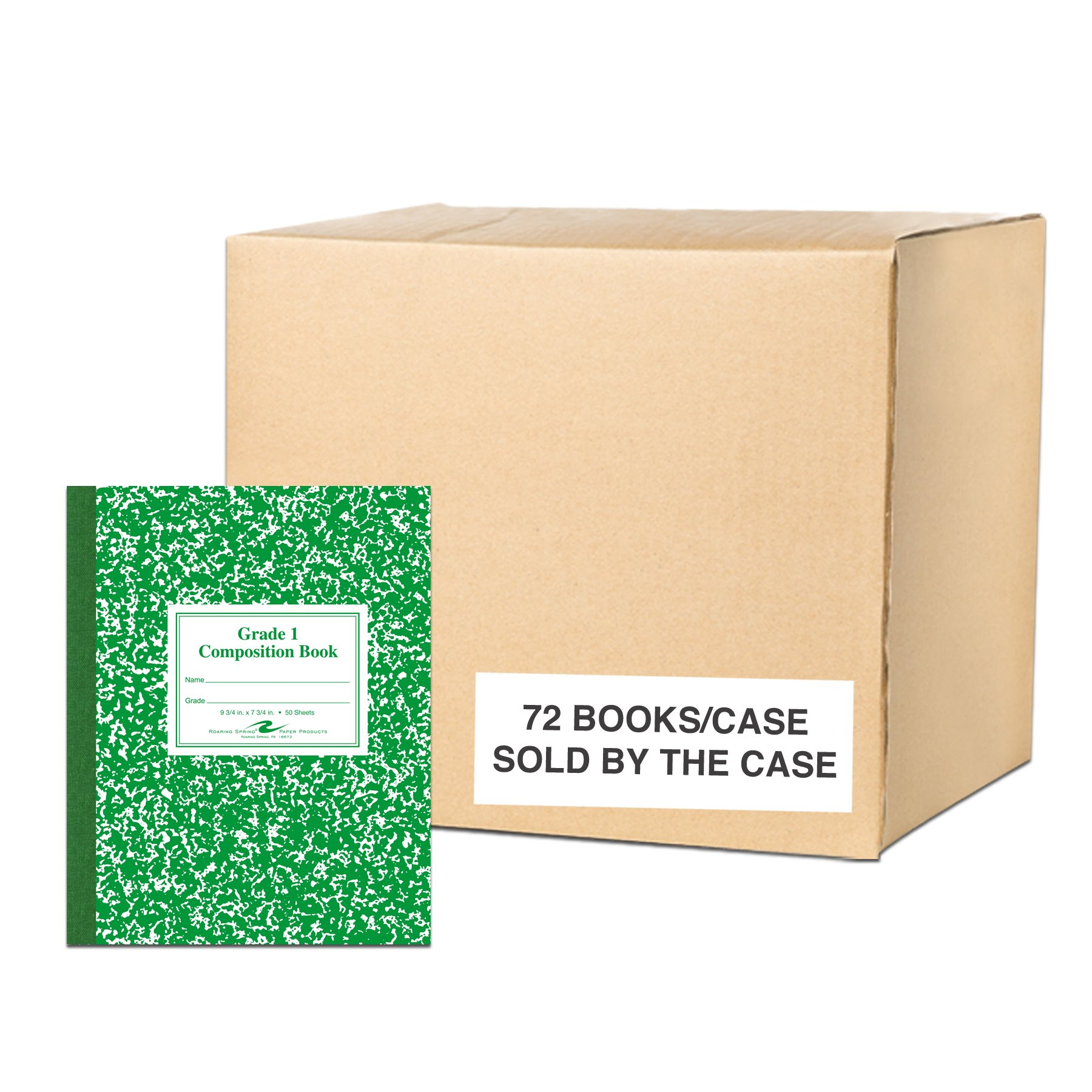 Roaring Spring Paper Products Center Sewn Composition Notebook, 7 3/4 x 9 3/4 x 1/4 (77920cs)