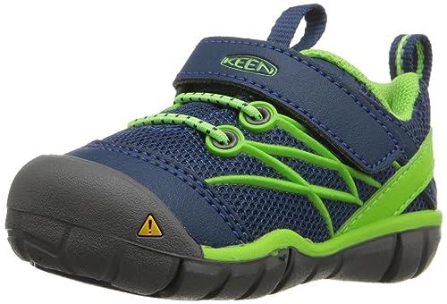 4e00d473505 KEEN Kid's Chandler CNX Athletic Shoe, Poseidon/Jasmine Green, 4 M US  Toddler