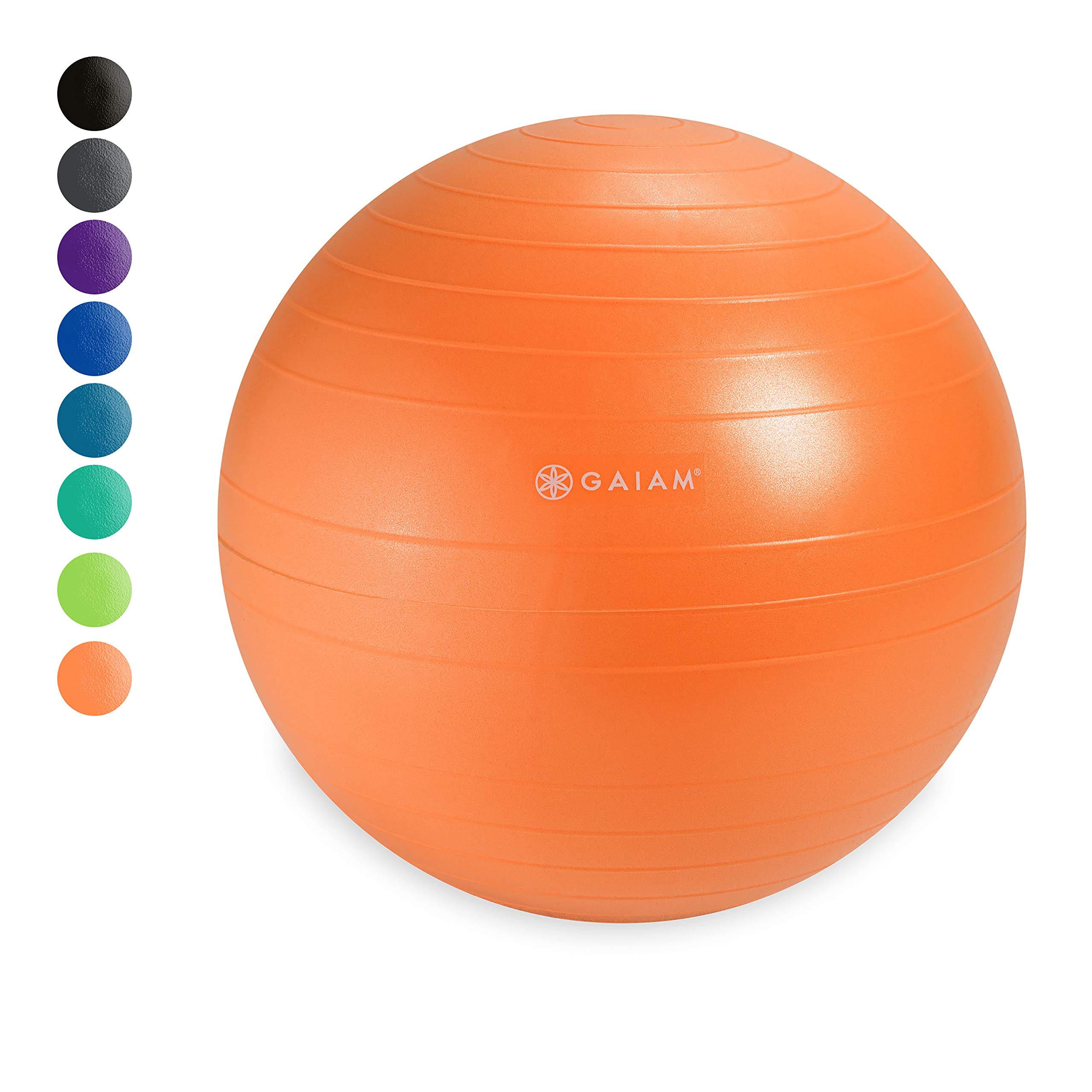 Gaiam Classic Balance Ball Chair Ball - Extra 52cm Balance Ball for Classic Balance Ball Chairs, Nectarine