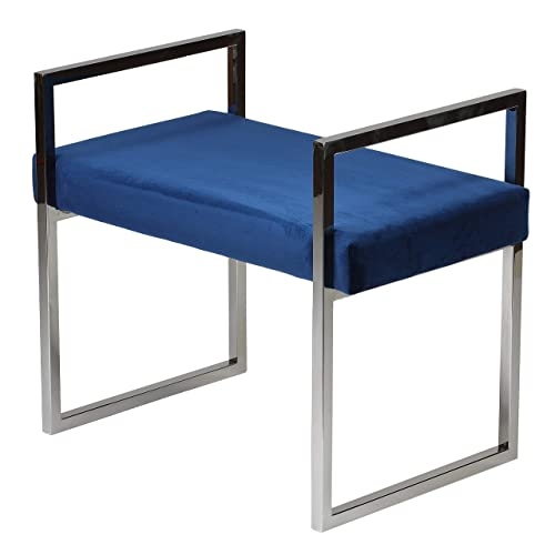 Cortesi Home Anna Bench Ottoman, 24 , Blue