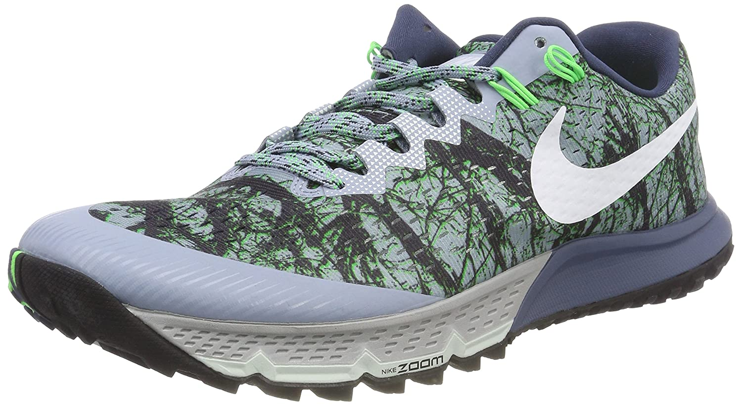 b6a4ebfa1000d Nike Men s AIR Zoom Terra Kiger 4 Training Shoes Grey Diffused Blue Rage  Green White 400