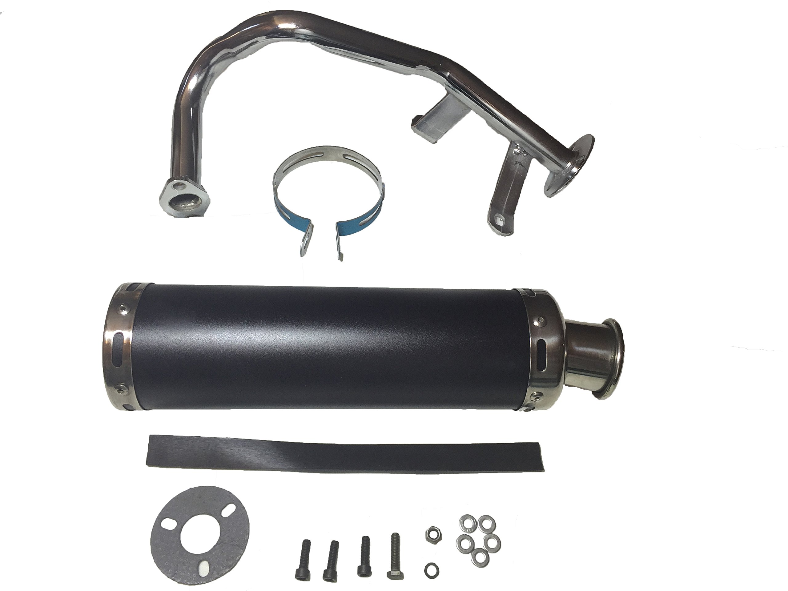 PERFORMANCE EXHAUST MUFFLER 50CC 80CC 100CC GY6 SCOOTER PEACE MOPED ATV