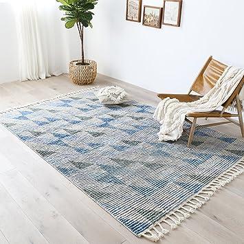 Lieblich BAGEHUA Maßgeschneiderte Moderne Marokkanischen Stil Handgewebte Wohnzimmer  Schlafzimmer Couchtisch Teppich, 160 × 230 Cm,