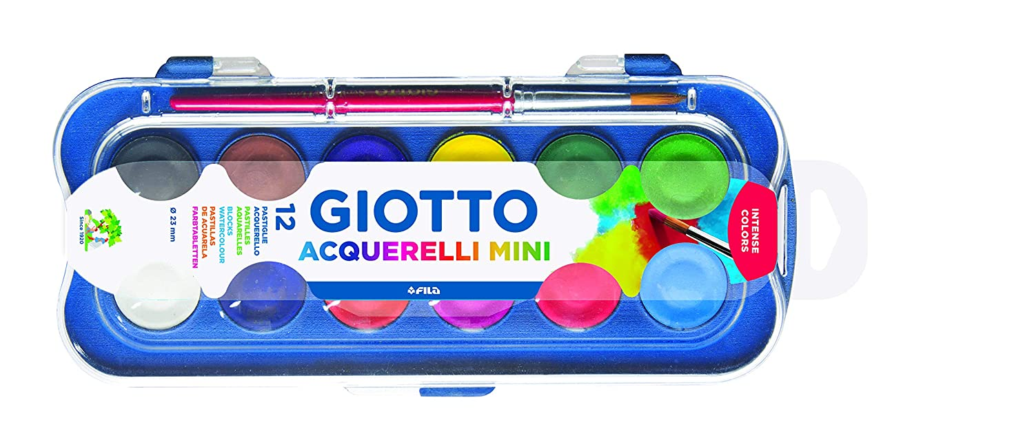 Giotto Box 12 Acquerelli Mini Padelle Assortiti