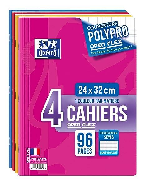 Oxford - Lote de cuadernos (4 unidades, 240 x 320 mm, 96 hojas