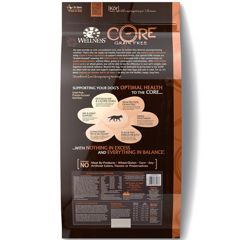 Wellness Core Natural Grain Free Dry Dog Food Original Pro Plan Adult Sensitive Digestion 25kg Mug Turkey Chicken 26 Pound Bag Pet Supplies