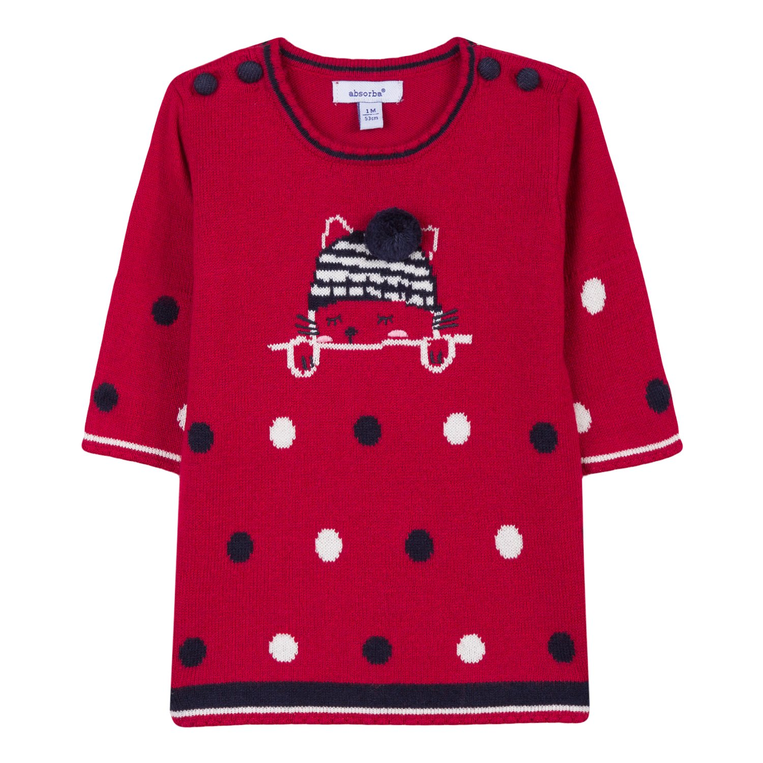 Absorba Boutique Robes Rouge, Vestido para Bebés 9M30002