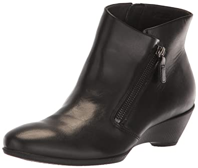 5a60c7bf0da45 ECCO Women's Women's Sculptured 45 Wedge Zip Ankle Boot Black 35 M EU (4-