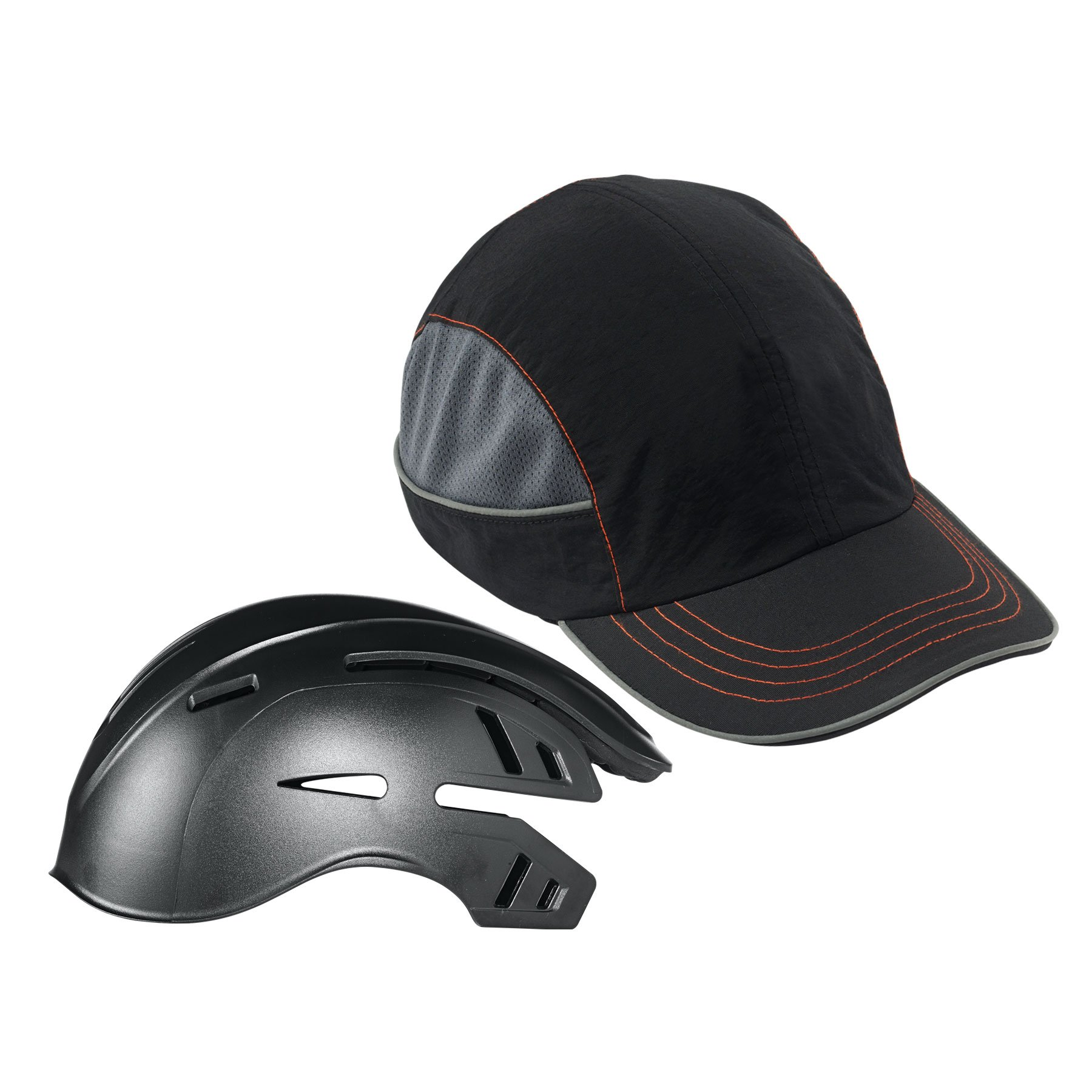Safety Bump Cap, Baseball Hat Style, Breathable Head Protection, Long Brim, Skullerz 8950 by Ergodyne (Image #6)