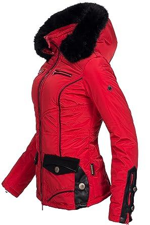 b389fd6f6bb0b6 Navahoo Winterjacke | Wintermantel | Stepp-Jacke Carolin für Damen  eleganter Kurz-Mantel im schlanken Parka-Stil mit Fellkapuze aus Kunstpelz  auch für den ...